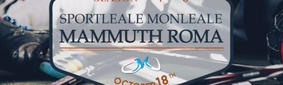 Prima trasferta della stagione per i Mammuth: si va a Monleale