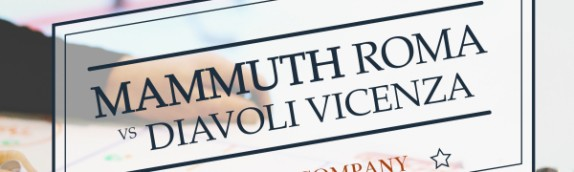 Mammuth pronti all'esordio domani contro i Diavoli Vicenza