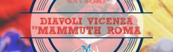Mammuth domani ospiti del Vicenza per la prima di ritorno
