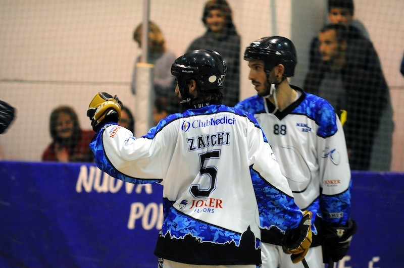 Stefano Zacchi dopo il suo primo goal contro Molinese